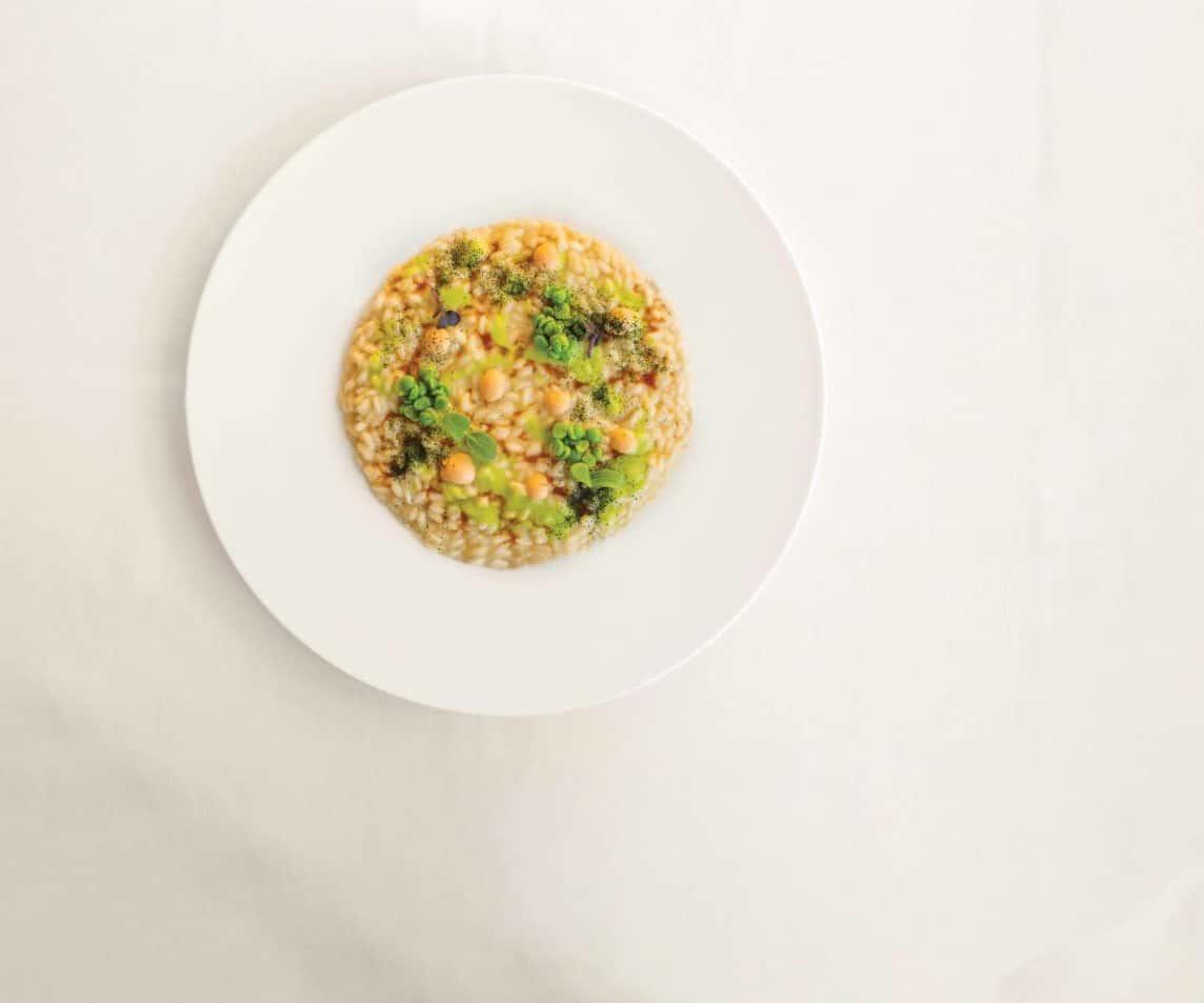 ricetta hotel Risotto-brodo-di-manzo-piselli-polpa-ricci