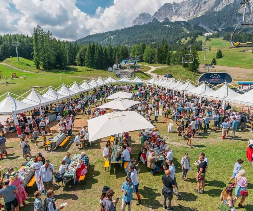cortina-summer-party food and wine italia